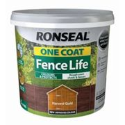 Ronseal One coat fence life Harvest gold Matt Fence & shed Wood treatment 5L