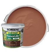 Ronseal One Coat Fence Life Matt Shed & Fence Treatment - Medium Oak 5L