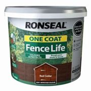 Ronseal One coat fence life Red cedar Matt Fence & shed Treatment 9L