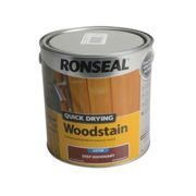 Ronseal Quick Drying Woodstain Satin Deep Mahogany 2.5 litre