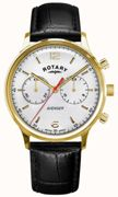 Rotary Watch Avenger Gold PVD Mens Silver