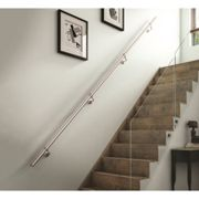 Rothley Polished Stainless Steel Easy Fit Staircase Handrail Kit 3.6M