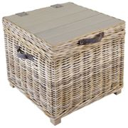 Rowico Maya Rattan Side Table - Grey Wash