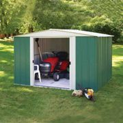 Rowlinson Greenvale Metal Apex Shed 10X8 Floor Option: No Floor
