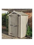 Rowlinson Heritage 4 X 3Ft Wooden Shed Grey