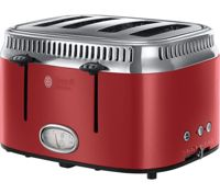 RUSSELL HOBBS Retro Red 4SL 21690 4-Slice Toaster - Red, Red