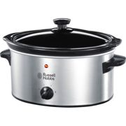 Russell Hobbs Silver Stainless Steel Slow Cooker 23200 3.5L