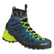 Salewa M Wildfire Edge Mid Gtx® Poseidon - Cactus, Size EU 40.5 - Mens Gore-Tex® Hiking and Approach Shoes, Color Blue