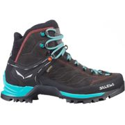 SALEWA Ws Mtn Trainer Mid Gore-tex Magnet/viridian Green - Approach shoe - Black/Blue - size 6.5