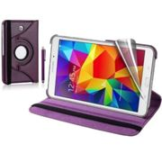 Samsung Galaxy Tab 4 8.0 360 Swivel Stand Case Cover - Purple