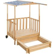 Sandpit with play deck and canopy Gretchen - blue