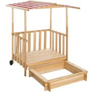 Sandpit with play deck and canopy Gretchen - red