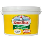 Sandtex 10l Smooth Masonry Paint, Pure Brilliant White