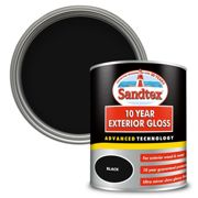 Sandtex Exterior 10 Year Gloss Paint - Charcoal Black - 750ml