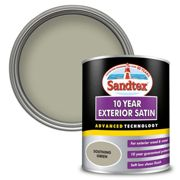 Sandtex Exterior 10 Year Satin Paint - Soothing Green - 750ml
