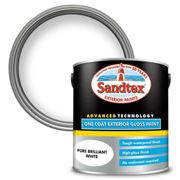 Sandtex Exterior One Coat Gloss Paint - Pure Brilliant White - 2.5L