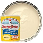 Sandtex Fine Textured Masonry Paint - Cornish Cream 5L