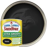 Sandtex Ultra Smooth Masonry Paint - Black 1L