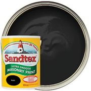 Sandtex Ultra Smooth Masonry Paint - Black 5L