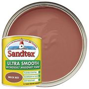 Sandtex Ultra Smooth Masonry Paint - Brick Red 1L
