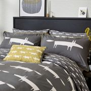 Scion Mr Fox in Charcoal Duvet Cover Set - DOUBLE, CHARCOAL