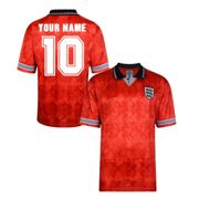Score Draw England World Cup 1990 Away Shirt (Your Name) Small Adults
