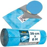 Scotch Flex and Seal Shipping Roll Blue 380mm x 6m, Easy Packaging Alternative to Postage Bags