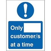 Seco Health & Safety Poster Only __ customer/s at a time Window Cling Film 15 x 20 cm