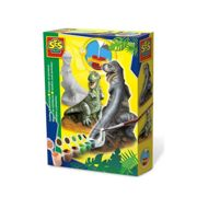 SES Creative Childrens T-Rex Casting and Painting Set Multi unisex