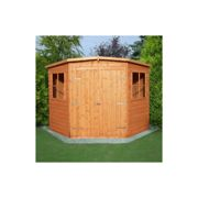 Shire Corner Shed Double Doors-Low Roof
