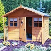 """Shire Cubby Wooden Playhouse (6'x4'+1'6"""")"""