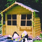 Shire Kitty Wooden Playhouse (5'x4'+1')
