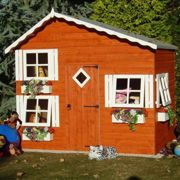 Shire Loft Two Storey Wooden Playhouse (8'x6')