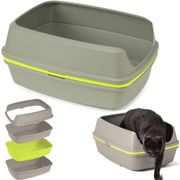 Sifting Cat Litter Tray Scoopless Toilet Box With Frame Pan Loo by AJS