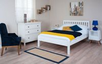 Silentnight Hayes White Wooden Bed Frame, Single Dimensions: 3′ x 6′3″ (90cm x 190cm)