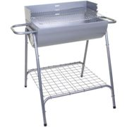 (Silver Portimao Barbecue ) Marko BBQ Barbecue Outdoor Garden Charcoal Barbeque Patio Party Cooking Large