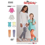 Simplicity Children's Easy To Sew Tunic and Leggings Sewing Pattern, 8556