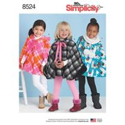 Simplicity Children's Poncho Sewing Pattern, 8524