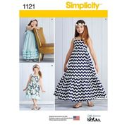 Simplicity Children's Pullover Dresses Sewing Pattern, 1121