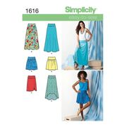 Simplicity Easy to Sew Womens' Skirts Sewing Pattern, 1616