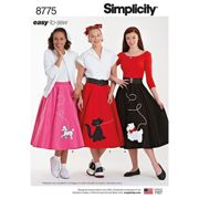 Simplicity Misses' 1950s Rockabilly Costumes, 8775