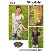 Simplicity Misses' Apron Dress Sewing Pattern, 8763