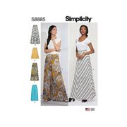 Simplicity Misses' Skirt and Trousers Sewing Pattern, 8885