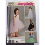 Simplicity Sewing Pattern 0421 1122 Child Girls Tulle Skirts Size 3-6 Uncut