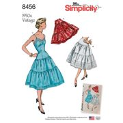 Simplicity Women's Vintage Skirt And Dress Sewing Pattern, 8456