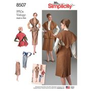 Simplicity Women's Vintage Skirt And Stole Sewing Pattern, 8507