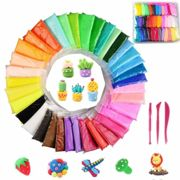 Simuer 36 Pack Modeling Clay Fluffy Slime, 36 Colors DIY Soft Magic Clay Craft Air Dry Plasticine Ultra-light Modeling Dough with Tools,Children...