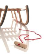 Sirch - red rope with wooden knob