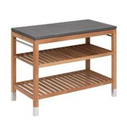 Skagerak - Pantry Module 2 Garden Shelf - anthracite/teak/fibre concrete/WxHxD 114x91.5x60cm/feet polished stainless steel
