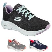 Skechers 149414 Arch Fit Comfy Black Womens Trainers 7